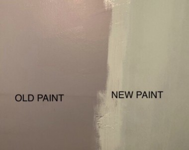 I never realized how dark the paint was in my little laundry room.