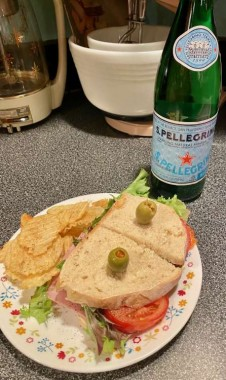 A sandwich becomes a delectable meal on a busy evening when made with homemade sourdough bread!