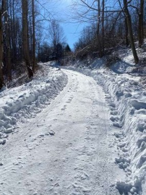 This was our driveway after a recent storm - after my husband had plowed! Somedays it is better than others...