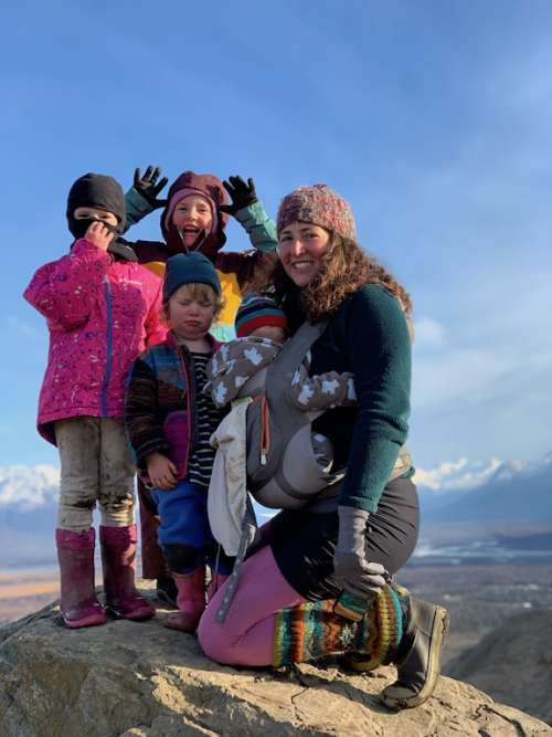 My girls and I (do yourself a favor and zoom in on Fern's face!) after climbing The Butte (a really big hill near us).