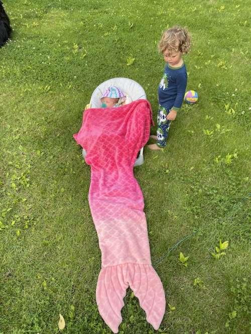 Nova's first mermaid tail.