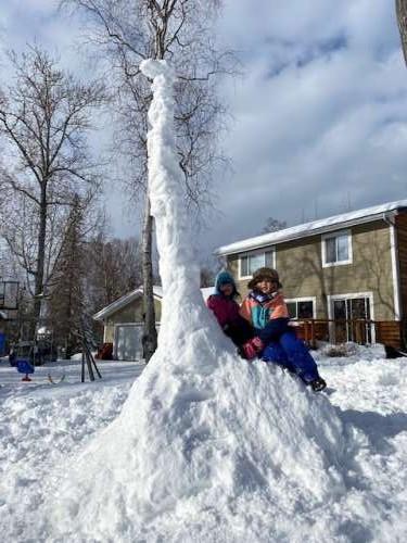 March snow is the best snow dinosaur snow.