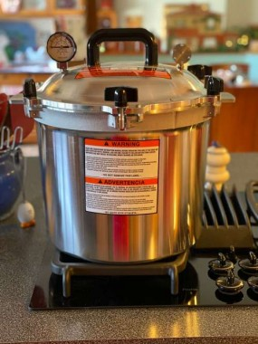 To can low acid foods, you need a pressure canner, not to be confused with a pressure cooker, rice cooker or instapot.