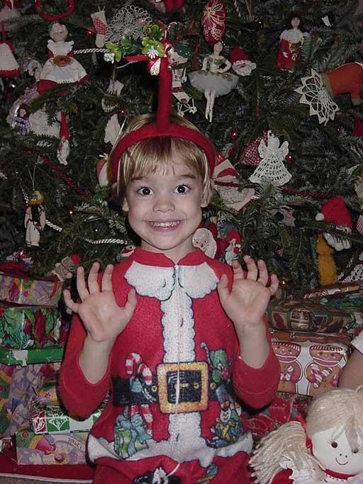 Big Christmas Smile in my Santa Claus suit!